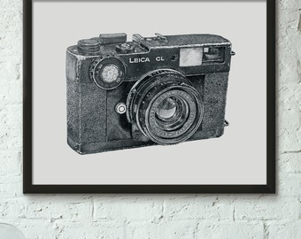 Leica CL - Limited Edition Fine Art Digital Giclee Print