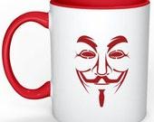 Custom mug - Anonymous - illustrated mug