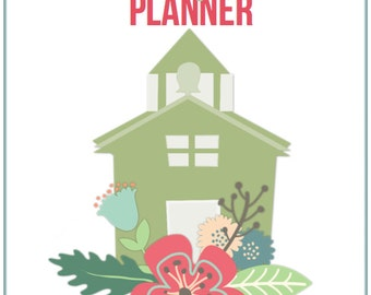 Homeschool Planner Cover - Planner Cover, homeschool, floral