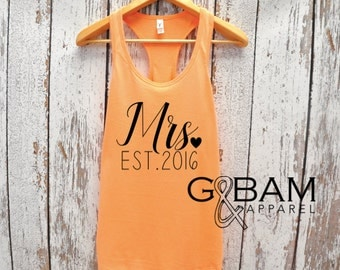 Mrs. Tank  / Bride Tank Top / Bridal Party Tank tops