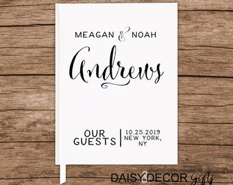 Wedding Guest Book Rustic Wedding Book Journal Wedding guest book modern wedding guests sign in book personalized book customize modern