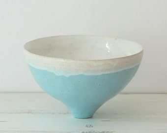 Handmade ceramic bowl, turquoise, white bowl, handmade bowl, decorative bowl, handmade gift, housewarming gift, wedding gift, pottery bowl