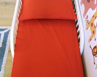Fitted Bedsheets for Crib/Toddler Bed with Full Size Pillowcase