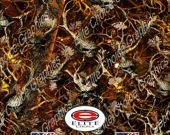 "Obliteration Tree Skull Blaze Camo 15""x52"" or 24""x52"" Truck/Pattern Print Tree Real Camouflage Sticker Roll or Sheet"