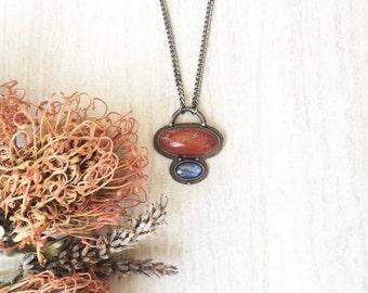 Red Jasper & Kyanite Necklace