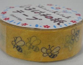 2016 Seal-do Iroha-Washi Masking Tape 15mm x 10m Bunbunbun Bee Shinzi Katoh ks-wt-10033