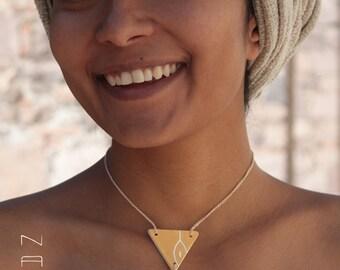 Necklace. Ceramic pendants + loop to crochet