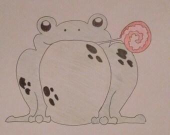 froggy lollipop