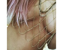 "The ""Samantha"" Chain Bralette, Body Chain"