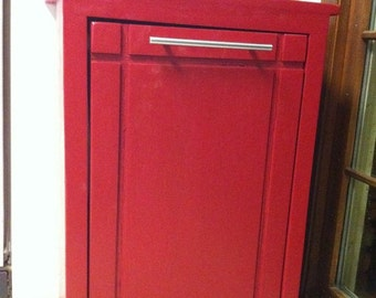 Custom Trash/Recyclables Cabinet