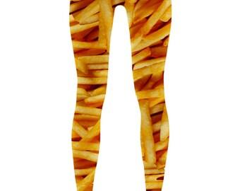 French Fry Leggings   Funny Food Leggings