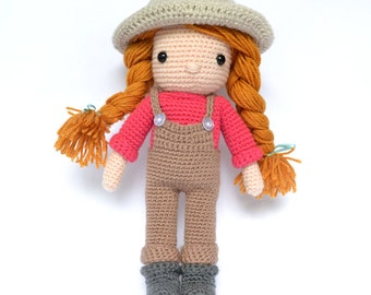 Crochet doll. Amigurumi doll.