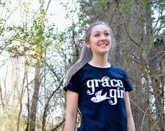 """Grace Girl """"Grunge Dove"""" Crew Tee"""