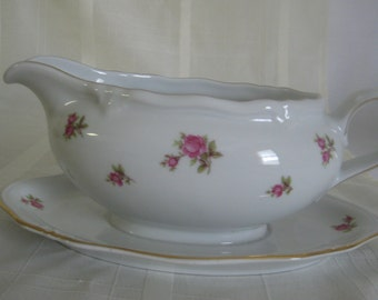 Winterling Marktleuthen Bavaria Gravy Boat with attached underplate - Germany US Zone