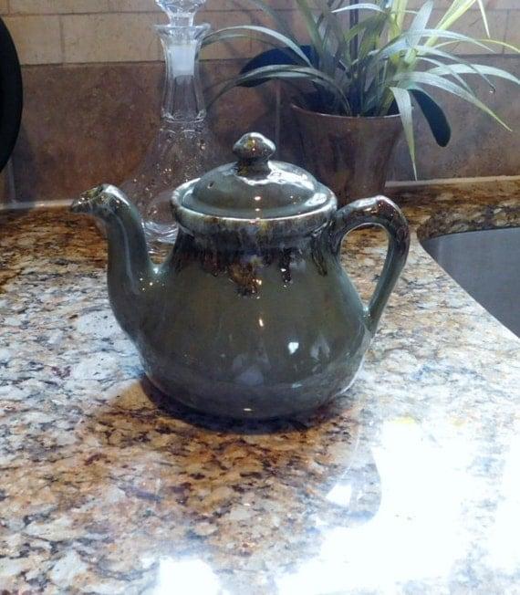 Pottery Tea Pot Kitchen Decor Vintage