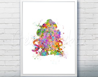 Disney Pixar Toy Story Mrs Potato Head Watercolor Poster Print - Watercolor Painting - Watercolor Art - Kids Decor- Nursery Decor