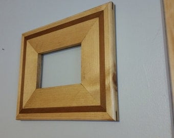 Pine with cedar inlay picture frame. 5x7