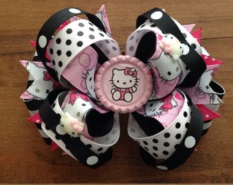 """5"""" Hello Kitty Stacked Boutique Bow"""