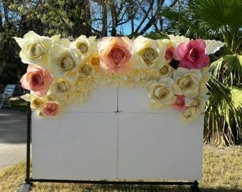 22 PAPER FLOWERS backdrop