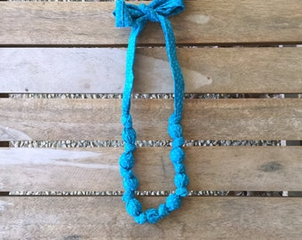 fabric bead necklace