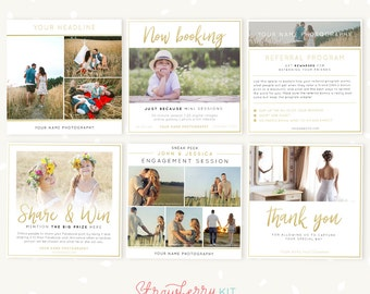 Social Media Templates for photographers, Facebook Template, Instagram Template, Photography marketing, Share and win, Sneak peek