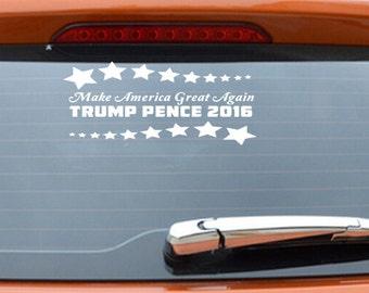 Make America Great Again Trump Pence 2016 Donald Trump Car Decals Bumper Stickers Trump For President 2016 Republican Anti Hillary