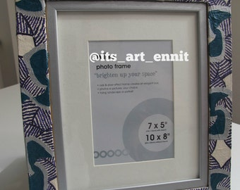 Free Standing Textured African Print Photo Frame