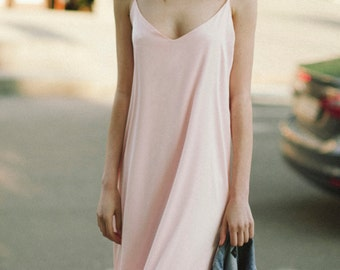 Silk dress, summer dress, spring dress, Bridesmaids dress, Pink slip dress