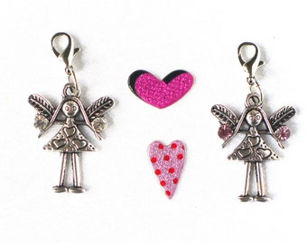 Little girl jewelry, kids teens guardian angel charm, childrens jewelry, necklace pendant, antique silver fashion jewelry, gift for girls