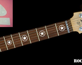 Stickers For Guitar Fretboard Markers Stars in a circle decal vinyl