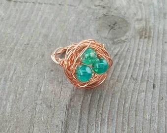 Robin's Egg Nest Ring