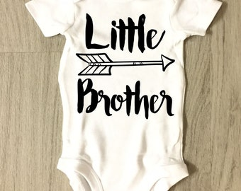 Little Brother infant bodysuit - toddler bodysuit - baby shower gift - coming home outfit