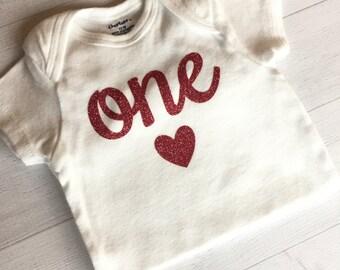 One ONESIE® Bodysuit, ONESIE® Bodysuit with Age, Baby Girl ONESIE® Bodysuit