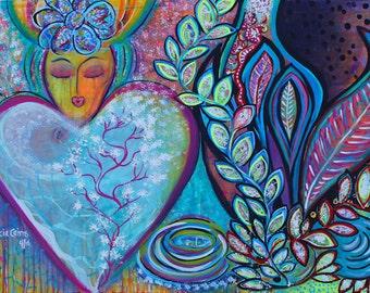 Spiritual Gratitude original painting