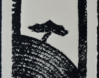 Two trees - Deux arbres  woodcut
