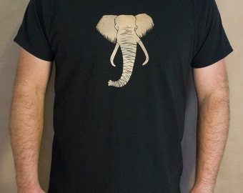 Elephant T-Shirt Bleach Design Kid's Shirt -original design - elephant design - bleach tshirt - kids elephant shirt - elephant bleach design