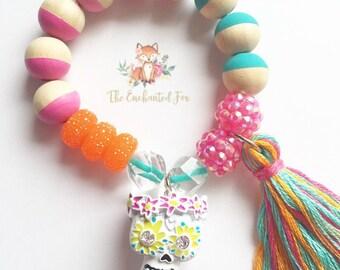 Sugar Skull charm bracelet