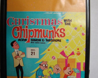 Chipmunks 8 Track Tape 'Christmas with the Chipmunks' Alvin, Simon, Theodore with David Seville