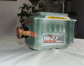 Vintage Jim Beam Cable Car Powell and Mason Street San Francisco