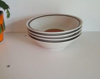 Excellent Vintage Stoneware Bowls - Haniwa Stone Japan - Aztec - 1970s - 4 available