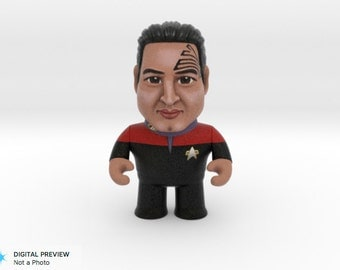 3D Printed Chakotay: Star Trek Caricature Chakotay - Star Trek 50th Anniversary Art - Science Fiction Art