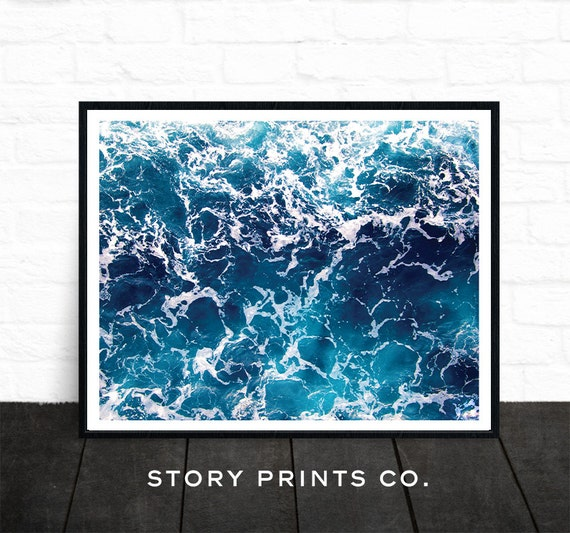 Beach Ocean Wall Decor : Ocean print beach wall art large poster