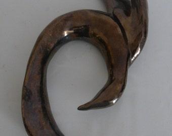Bird ceramic Raku firing