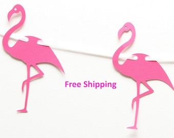 Bright Pink Flamingo Garland/Banner/Bunting - birthday, photo prop