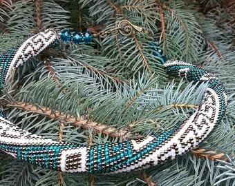 "Crochet beads Neckels ""Greece"""