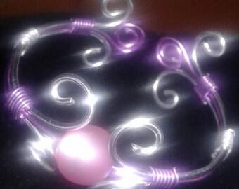 aluminum bracelet with Pearl