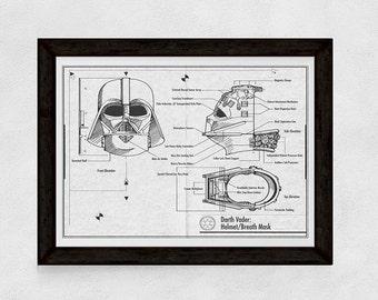 DOWNLOADABLE Stars Wars Darth Vader- Oversized print poster wallart