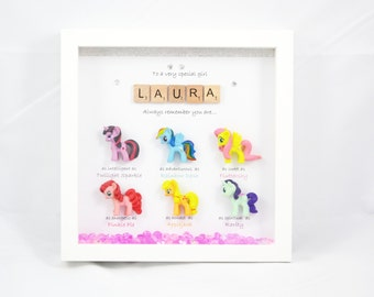 Personalised My Little Pony Special Box Frame Gift-Birthday-Christmas-Perfect present- friend-mum- daughter-sister-niece