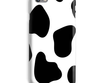Cow iPhone Case, Cow print iphone case, farm iphone 6 case, farmer iphone 6 case, white iphone 6s case, black white iphone case