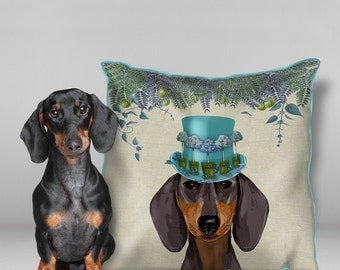 Dachshund pillow cover Dachshund cushion cover Dachshund gift Wiener dog pillow cover Dachshund Décor Doxie gift sausage dog pillow cover